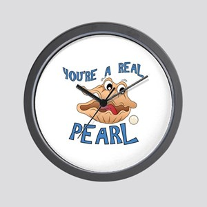 A Real Pearl Wall Clock