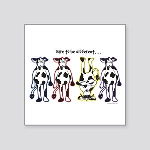 Dare to be Different Cows Sticker