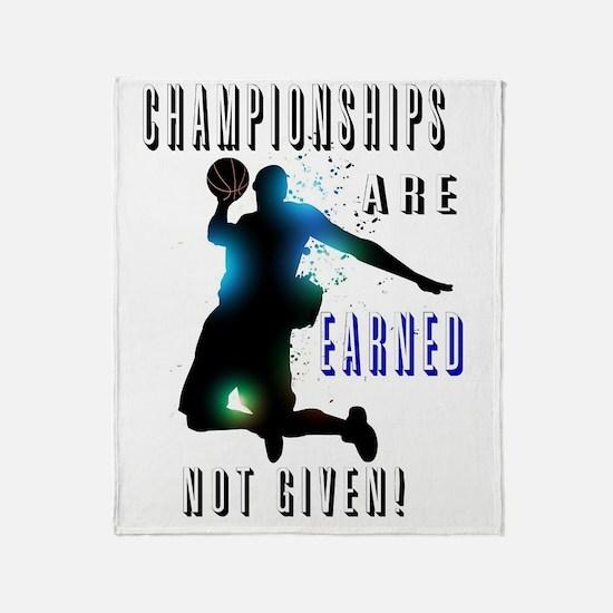 Championships earned Throw Blanket