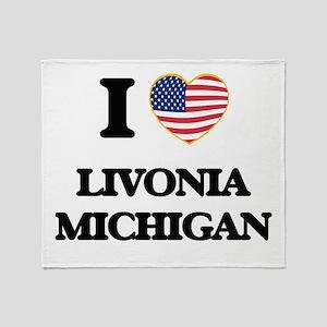 I love Livonia Michigan Throw Blanket