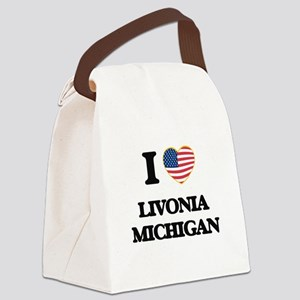 I love Livonia Michigan Canvas Lunch Bag