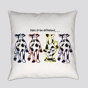 Dare to be Different Cows Everyday Pillow