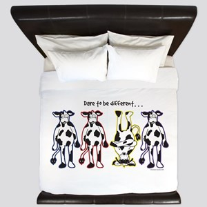 Dare to be Different Cows King Duvet