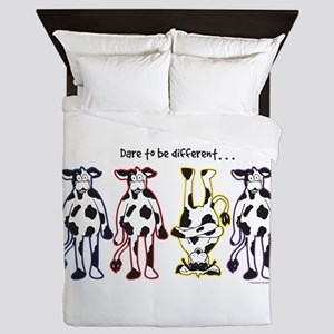 Dare to be Different Cows Queen Duvet