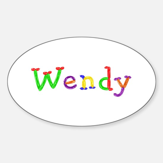 Wendy Balloons Oval Decal