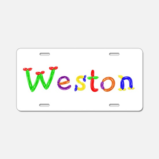 Weston Balloons Aluminum License Plate