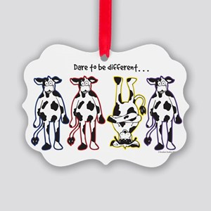 Dare to be Different Cows Ornament