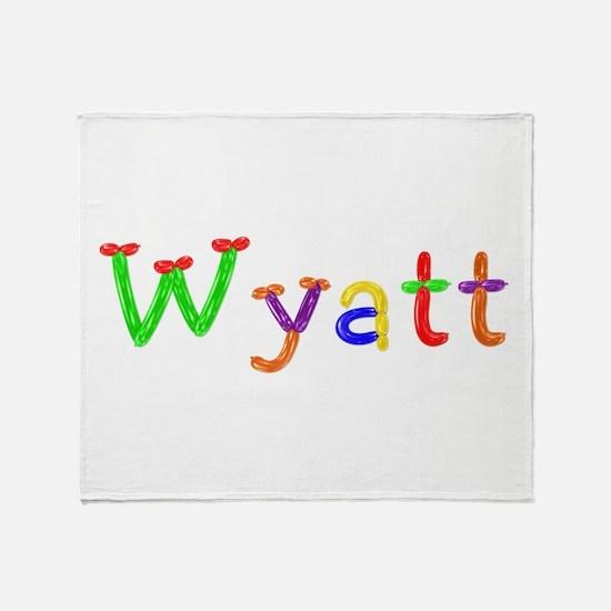 Wyatt Balloons Throw Blanket