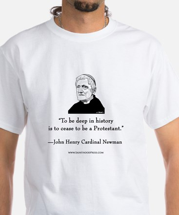 Newman Shirt Back - To Be Deep in History T-Shirt