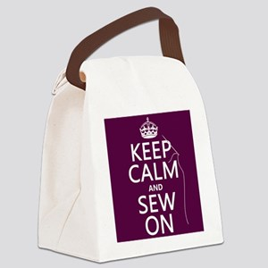 Keep Calm and Sew On Canvas Lunch Bag