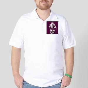 Keep Calm and Sew On Golf Shirt