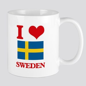 I Love Sweden Mugs