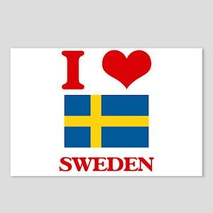 I Love Sweden Postcards (Package of 8)