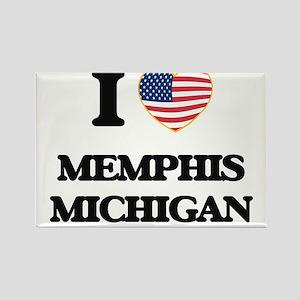 I love Memphis Michigan Magnets