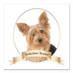 Yorkie Square Car Magnet 3