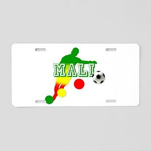 Mali Soccer Player Aluminum License Plate
