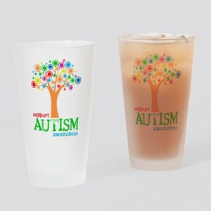 Support Autism Drinking Glass