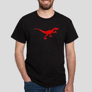 Velociraptor Silhouette (Red) T-Shirt