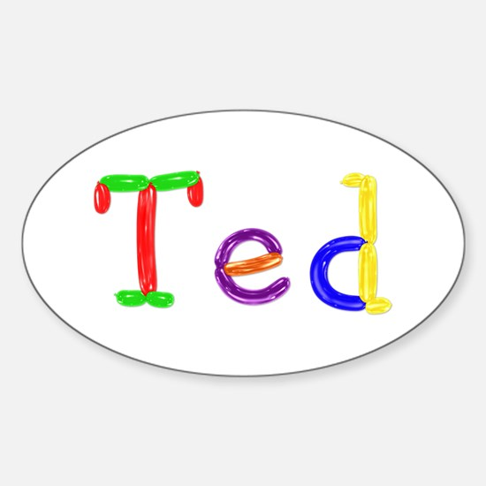 Ted Balloons Oval Decal