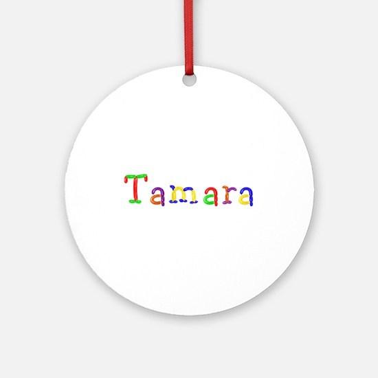 Tamara Balloons Round Ornament