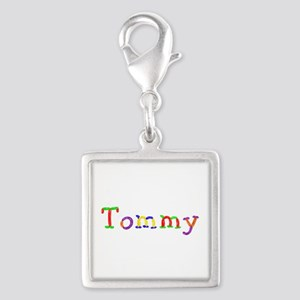 Tommy Balloons Silver Square Charm
