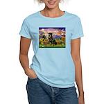 Autumn Angel & Rottie Women's Light T-Shirt