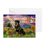 Autumn Angel & Rottie Greeting Cards (Pk of 20)