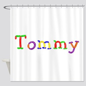 Tommy Balloons Shower Curtain