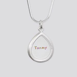 Tommy Balloons Silver Teardrop Necklace