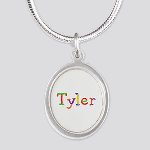 Tyler Balloons Silver Oval Necklace