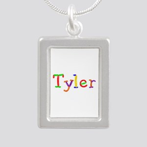 Tyler Balloons Silver Portrait Necklace
