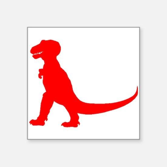 Tyrannosaurus Rex Silhouette (Red) Sticker