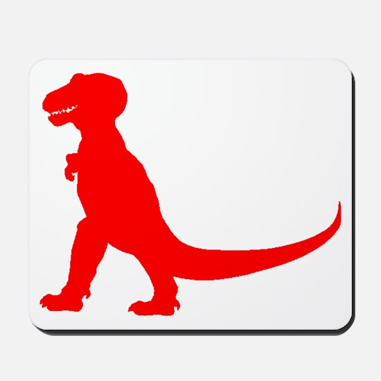Tyrannosaurus Rex Silhouette (Red) Mousepad