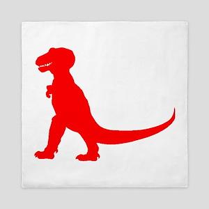 Tyrannosaurus Rex Silhouette (Red) Queen Duvet