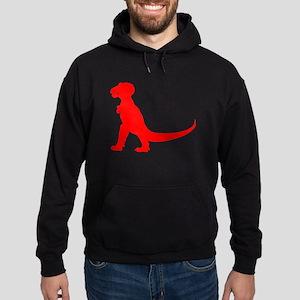Tyrannosaurus Rex Silhouette (Red) Hoodie