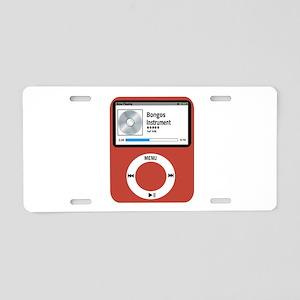 Ipad Bongos Aluminum License Plate