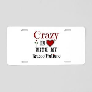 Bracco Italiano Aluminum License Plate