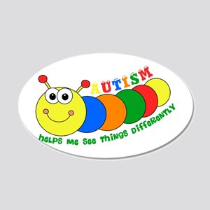 Autism Caterpillar Wall Decal
