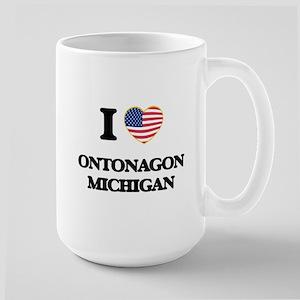 I love Ontonagon Michigan Mugs