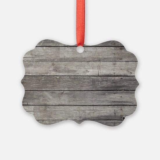 Old Wood Planks Ornament