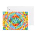 Sacred Geometry Watercolor Greeting Card
