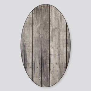 Old Wood Planks Sticker (Oval)