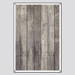Old Wood Planks Banner