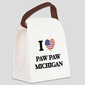 I love Paw Paw Michigan Canvas Lunch Bag