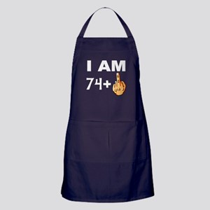 Middle Finger 75th Birthday Apron (dark)