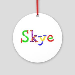 Skye Balloons Round Ornament