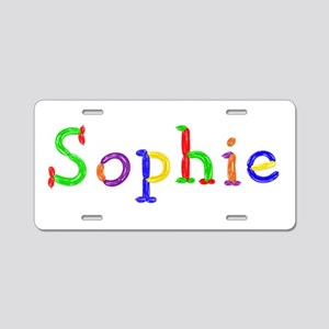 Sophie Balloons Aluminum License Plate