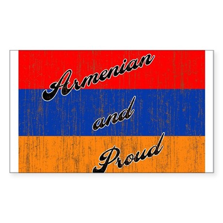 Armenian and Proud Rectangle Sticker