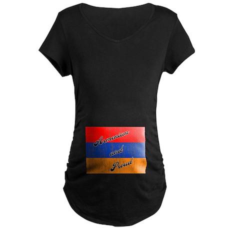 Armenian and Proud Maternity Dark T-Shirt