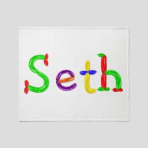 Seth Balloons Throw Blanket
